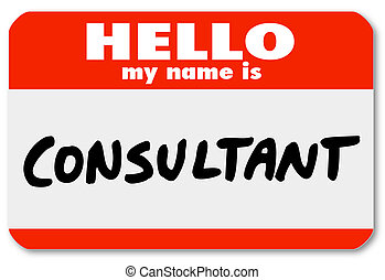 Hallo, mein Name ist Berater Namensschild