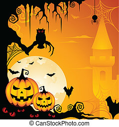 Halloween Hintergrund.