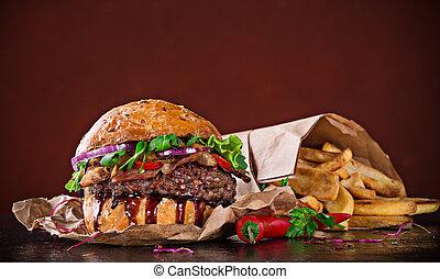 hamburger, köstlich