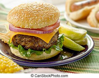 hamburger, mahlzeit
