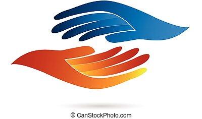 Handshake Geschäftslogo.