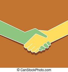 Handshake Icon Design.