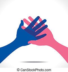 Handshake oder Handvektor.