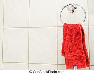 handtuch, rotes
