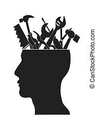 Handwerkzeuge im Kopf