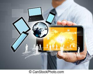 Handy mit Geschäftskonzept