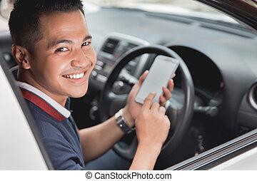 handy, während, fahren