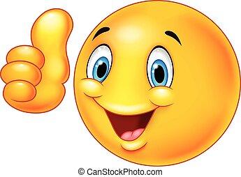 Happy Cartoon Smiley emoticon givin.