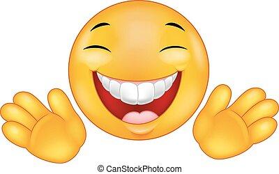Happy Emoticon Smiley Cartoon.