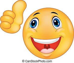 Happy Smiley emoticon Cartoon Face.
