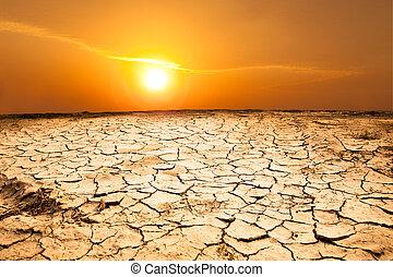 Hartes Land und heißes Wetter