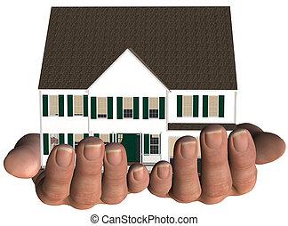 Haus in Händen, Immobilienangebot