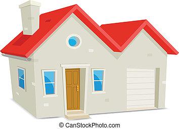 Haus und Garage