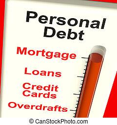hausfinanzierung, persönlich, ausstellung, meter, schuld, darlehen
