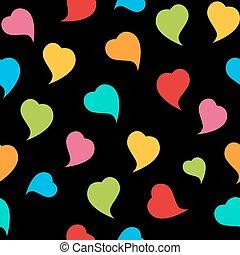 heart., muster, valentines, seamless, vec, hintergrund, tag, glücklich