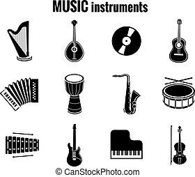 heiligenbilder, instrument, schwarzer hintergrund, musik, weißes