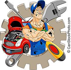 heiter, mechaniker