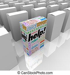 Helfen Sie der Kundgebung und Unterstützung im Regal