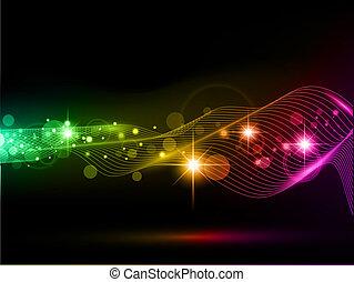 Heller, vielfarbiger Hintergrund mit Sternen und Lichtern