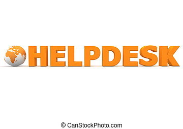 Helpdesk Welt orange