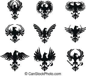 Heraldischer Adlermantel