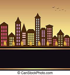 Herbst-Cityscape-Illustration