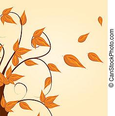 Herbstbaum Hintergrund.