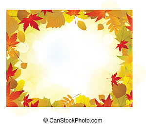 Herbstblatt-Hintergrund