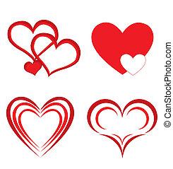 herz, abbildung, valentine