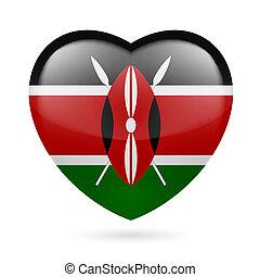 Herz Ikone von Kenya