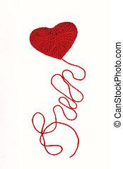Herz mit einem Faden