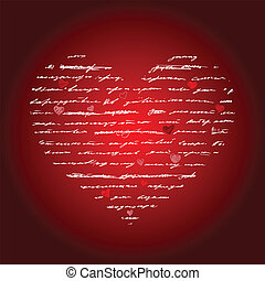 herz, vektor, love., illustration., hintergrund.