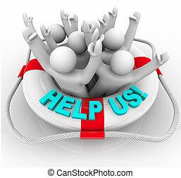 Hilf uns - Menschen im Lebenserhaltungssystem