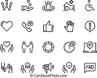 Hilfe für Symbole. Unterstützen Sie die Gesundheitsfürsorge, manuelle faq-Leitfaden, Familien-Lebensgemeinschaft Spenden. Hilfe und Unterstützung eingestellt