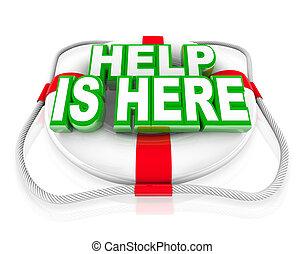 Hilfe ist hier Lebensrettung, um Leben zu retten