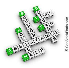 Hilfe und Unterstützung
