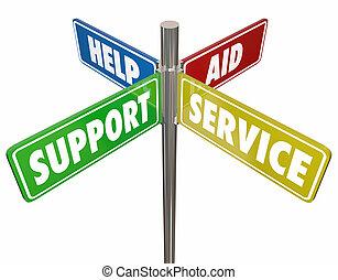 Hilfe zur Unterstützung von Hilfsdienstzeichen 3D Abbildung.