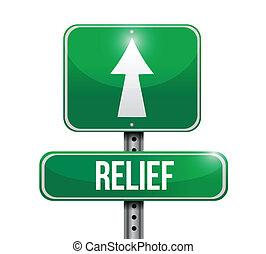 Hilfsstraßenzeichen Illustration