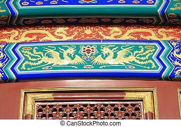 himmel, tempel, detail