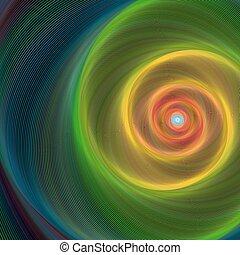 hintergrund, glänzend, spirale, bunte