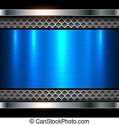 Hintergrund metallisch blau.
