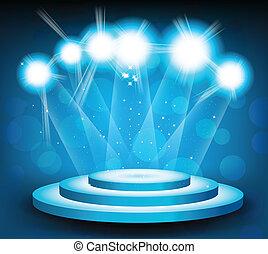Hintergrund mit Bühne und Licht