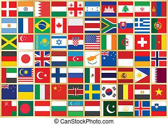 Hintergrund mit Flaggen-Ikonen