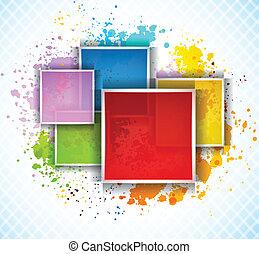 Hintergrund mit Quadraten