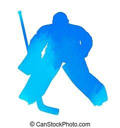 hockey, eis, torwart