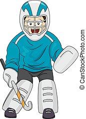 hockey, torwart