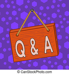 holz, q, wall., definiert, karikatur, schreibende, foto, quadrat, rechteck, farbig, geschaeftswelt, unwirklich, merkzettel, fragte, antworten, ausstellung, wesen, showcasing, a., fragen