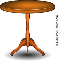 Holz runder Tisch
