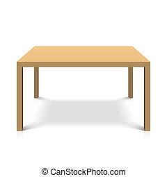 Holztisch.