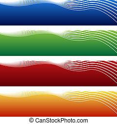 Horizontale Wellen-Banner